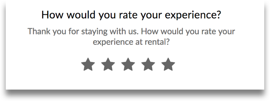 RueBaRue Five Star Review Survey